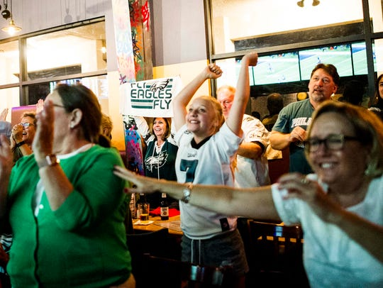 Fans react to the Philadelphia Eagles' first touchdown