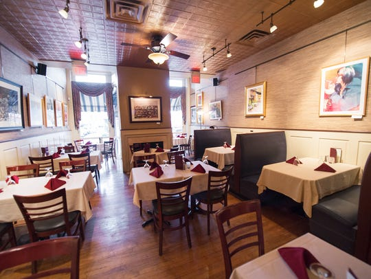 The traditional dining room in the York Blue Moon will