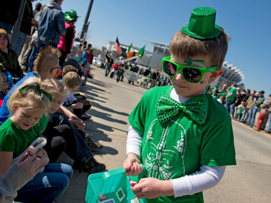 The annual St. Patrick's Day Parade took place along