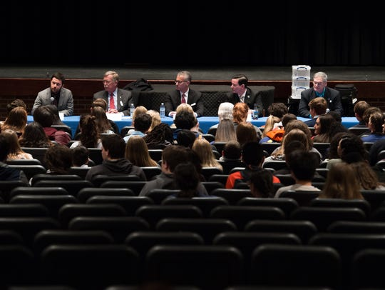 During a town hall meeting held at Caesar Rodney High