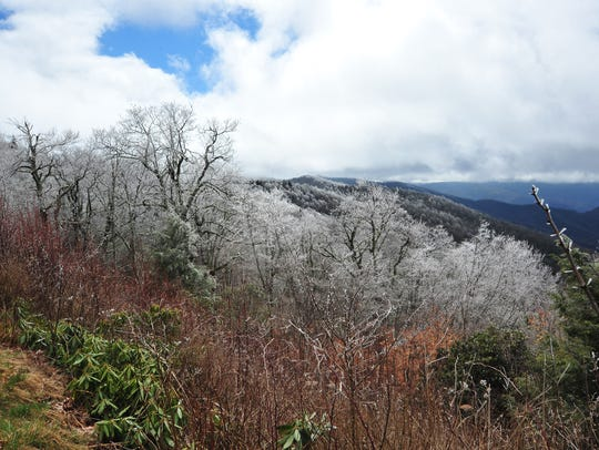 The Asheville area had temperatures at freezing or below Monday.
