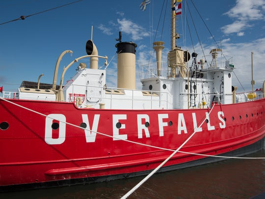 Lightship Overfalls was the last light vessel constructed for the United States Lighthouse Service before the service became part of the United States Coast Guard.