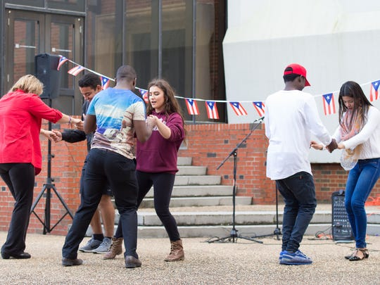 Northwestern State students learn to salsa at an event