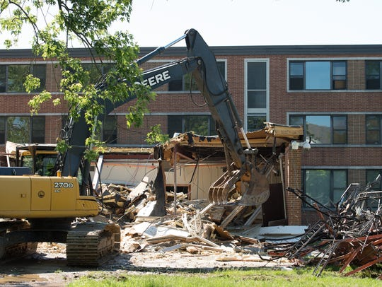 Demolition of the 56-year-old Lydia P. Laws Residential