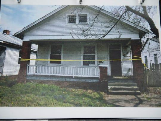 Evidence photo of the abandoned house Aleah Beckerle