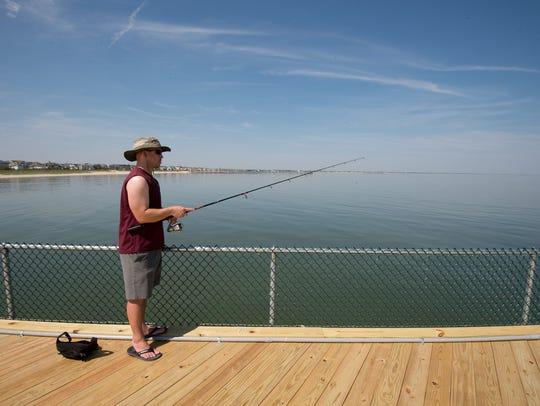 Cast a rod from the Cape Henlopen pier destateparks.com/Beaches/CapeHenlopen