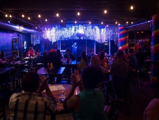 Comedian Rachel Goldman preforms at the Bokeh Lounge