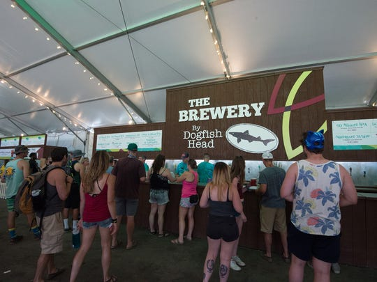 The Brewery by Dogfish Head at the Firefly Music Festival.
