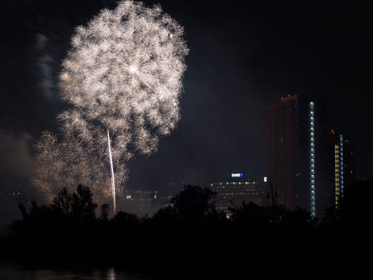Fireworks will explode above Wilmington on July Fourth around 9:30 p.m.