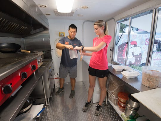 Ben Wang and his wife Brea have opened a new Asian food truck called Wang's World in Bethany Beach.  They offer homemade spring rolls, bubble tea and chicken wings.