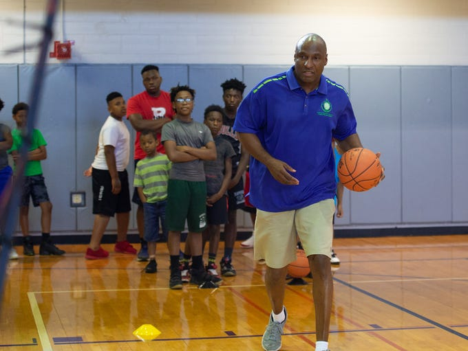 Action from the Louisiana Sports Hall of Fame Saints/Pelicans