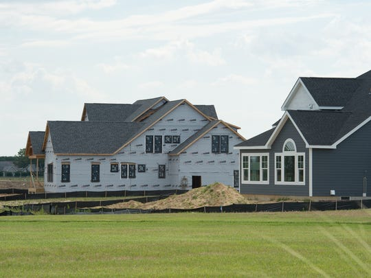 New construction in the Showfield development in Lewes.