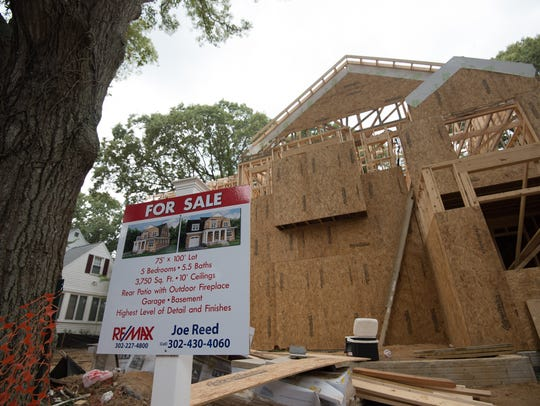New house construction along Norfolk Street in Rehoboth