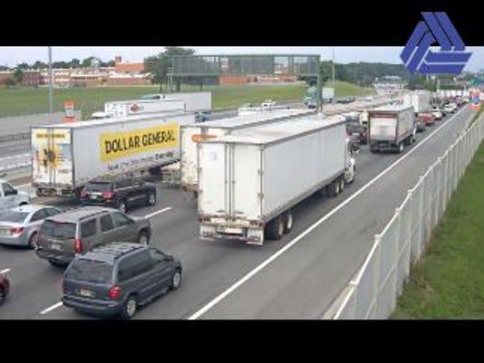 Delaware Memorial Bridge backups