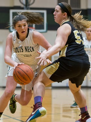 Southern Regional vs Colts Neck girls basketball, round two of the Shore Conference Tournament.Colts Neck, NJ Thursday, February 18, 2016@dhoodhood