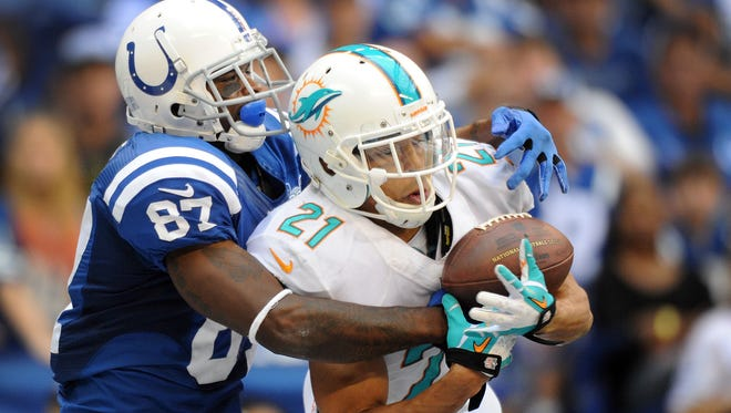 CB Brent Grimes (21) was a Pro Bowler for the Dolphins in 2013.