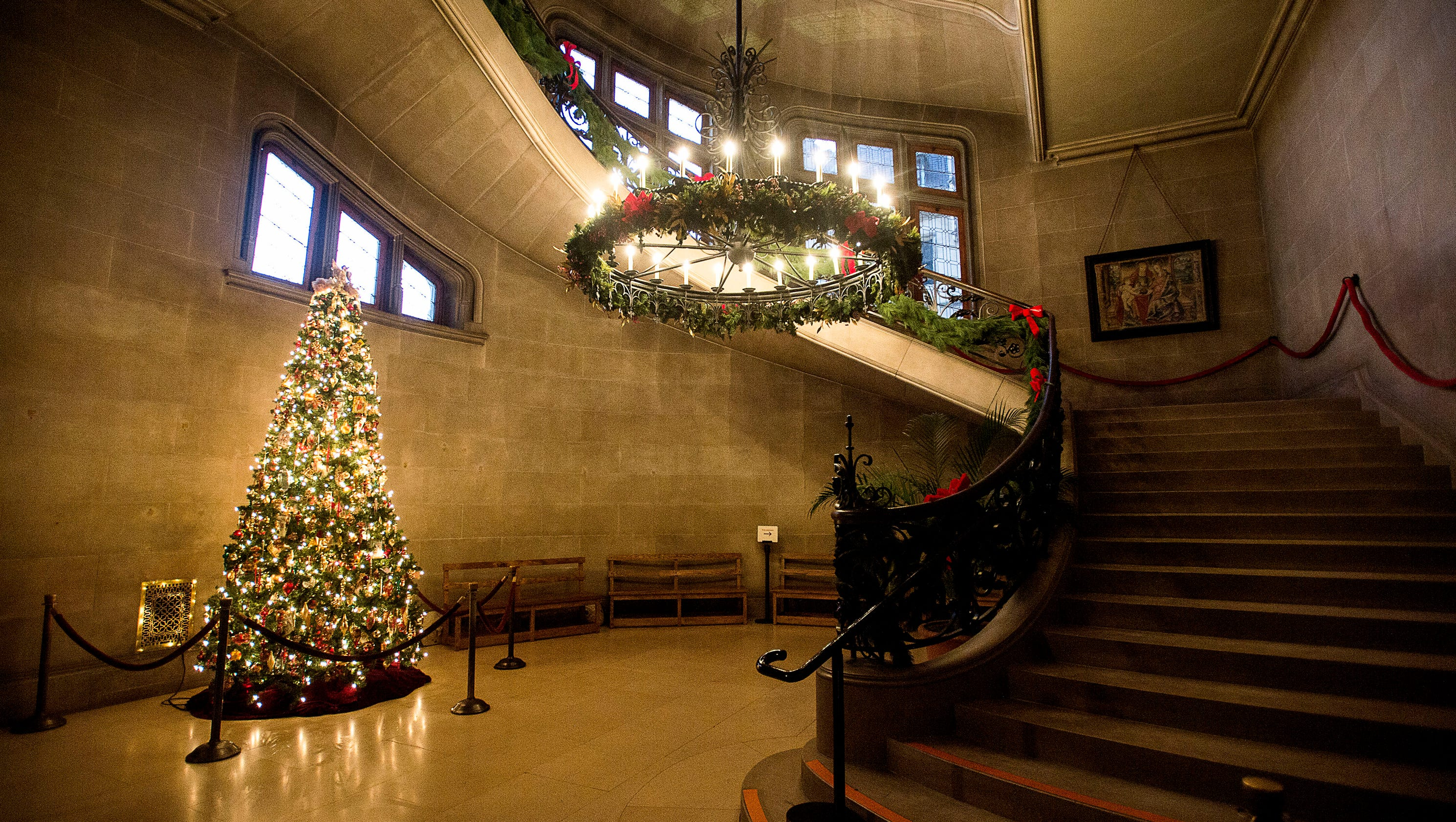 Beautifully Decorated Homes For Christmas Home Of The Week Biltmore During The Holidays