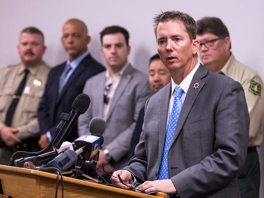 Tulare County District Attorney Tim Ward and other