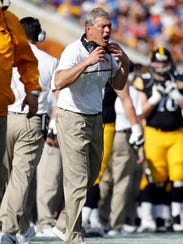Jan 2, 2017; Tampa , FL, USA; Iowa Hawkeyes head coach