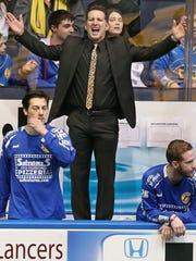 Lancers head coach Doug Miller during a match March