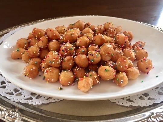 Struffoli is a traditional Italian favorite.