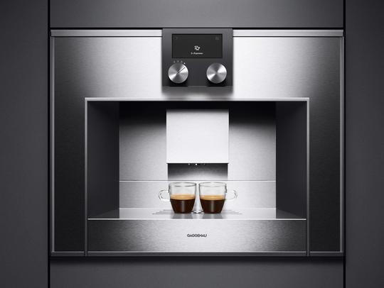 Gaggenau's CM 210 built-in, fully-automatic coffee