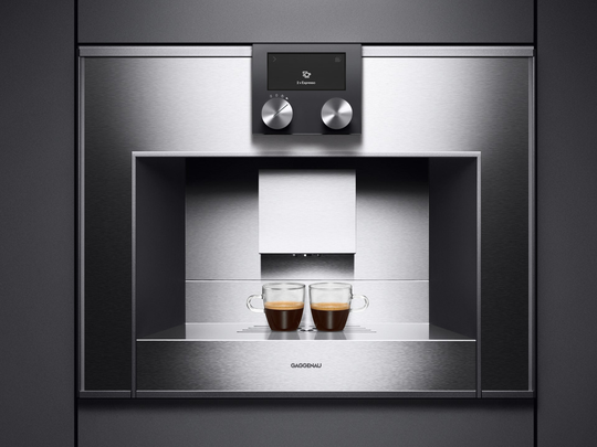 Gaggenau's CM 210 built-in, fully-automatic coffee