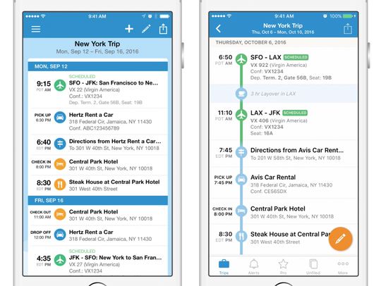 Owned by Concur, TripIt is a comprehensive travel app