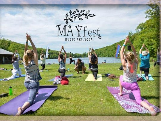 Learn some new yoga poses and listen to great tunes during Mayfest.