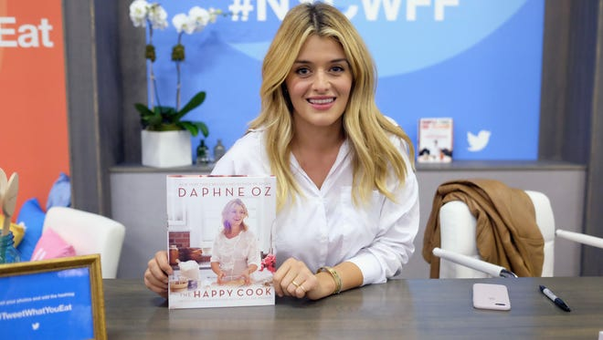 Chef Daphne Oz greets fans at the Food Network & Cooking Channel New York City Wine & Food Festival Presented By Coca-Cola - Grand Tasting presented by ShopRite featuring Samsung Culinary Demonstrations presented by MasterCard at Pier 94 on October 15, 2016 in New York City.  (Photo by Nicholas Hunt/Getty Images for NYCWFF)