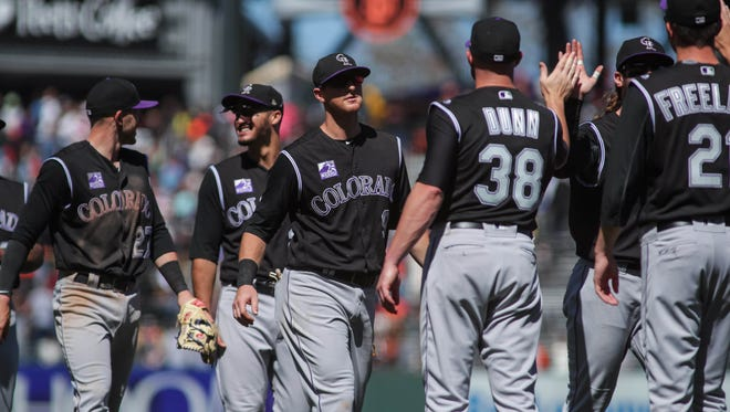 The Colorado Rockies play at the L.A. Dodgers on Friday night.
