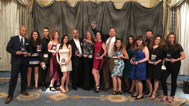 The S3 Agency employees pose with their awards at the 8th Annual Jersey Awards held on June 8 at The Grove in Cedar Grove.
