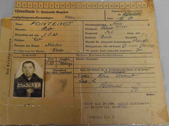 Wirt Fontenot served in World War II and was held as a POW until the end of the war.