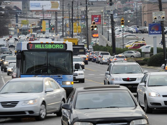 Nashville commute ranked worst