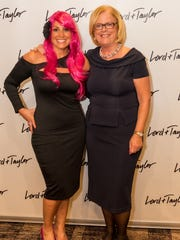 BCRC Director Paula Flory (left) and YWCA Princeton CEO Judy Hutton at last year's 'In The Pink Fashion Show.'