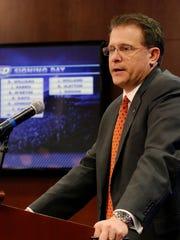 Auburn coach Gus Malzahn speaks during 2015 national signing day on Wednesday, Feb. 4, 2015  in Auburn, Ala.