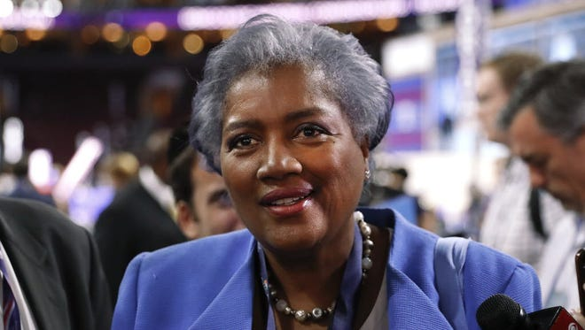 Donna Brazile, vice chair of the Democratic National Committee and serving as interim chair until November, speaks on the floor of the Democratic National Convention in Philadelphia, Monday, July 25, 2016.