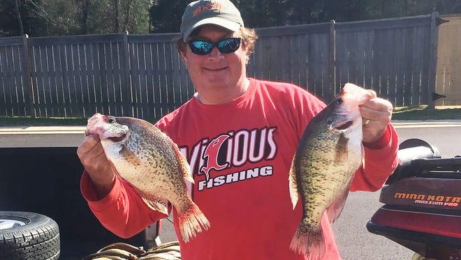 Crappie and bass anglers are finding fish moving shallow at Barnett Reservoir.