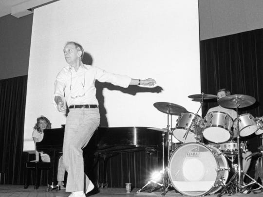Don Knotts performs  in the Union ballroom.at Mississippi