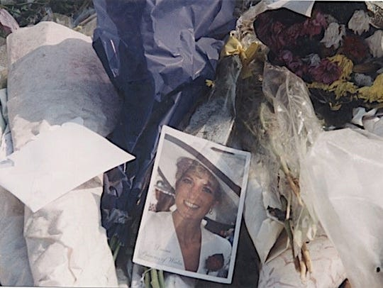 A tribute to Diana at Kensington Palace.
