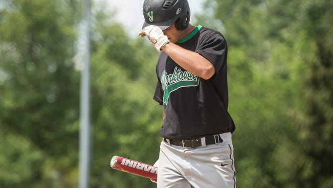 Yorktown took on Norwell in the semifinal of the IHSAA Class 3A Regional on June 3 at Bellmont High School in Decatur. Yorktown won game one 3-2.