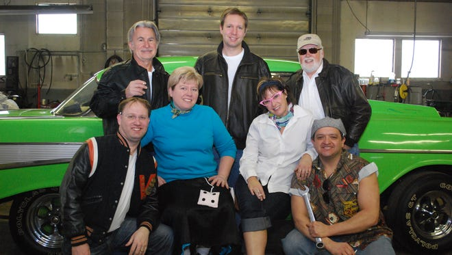 Loco Vocals will be performing at the Beaver Dam Area Community Theatre. Pictured left to right in the front row are Jay Wilkins, Cheryl Zeman, Jenny Addison, and Ricardo Ramirez. The back row includes Jeff Mroz, David Saniter and David Carlson. Missing from the photo is Tanya Diggins.