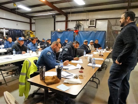 Dino Franco, OSHA-authorized instructor, taught two 8-hour classes recently in Las Cruces to educate LCU and Public Works employees to the risks involved in excavation.