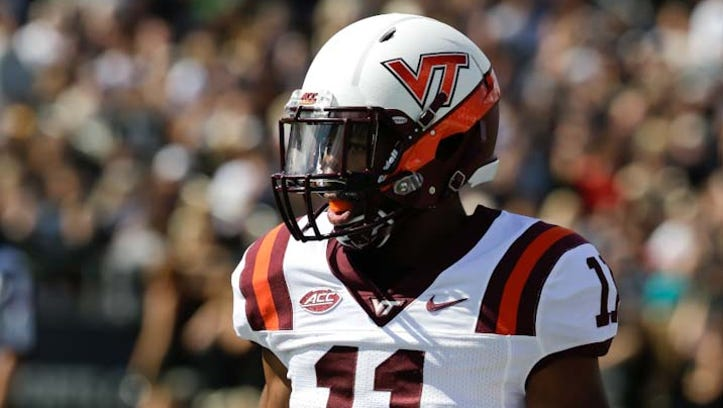 Virginia Tech's Kendall Fuller plays against Purdue on Sept. 19, 2015, in West Lafayette, Ind.