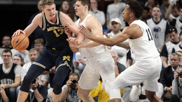 Wolverines' Wagner embracing heel role on the road