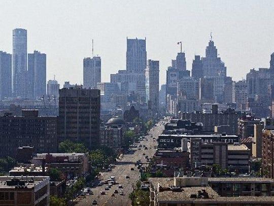 Detroit's skyline in 2013.