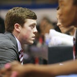 La. Tech coach Tyler Summitt talks to some of his players during a recent game.