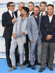 "Some of the men of ""Mamma Mia 2"": Colin Firth (Harry),"