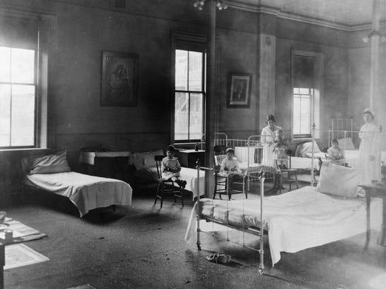 P.1 Infirmary- Influenza Epidemic 1918--300