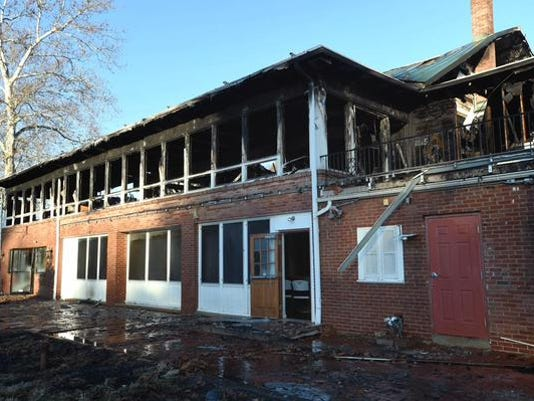 The old Red Lion Country Club burned in February.